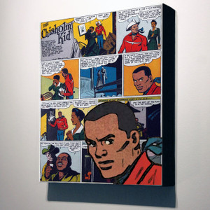 Vintage Black Heroes 14x12 Canvas - The Chisholm Kid - 2a