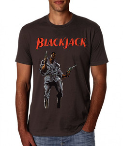 Vintage Black Heroes Men's T-Shirt - BlackJack - 2 - Brown