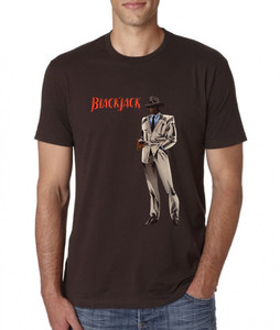 Vintage Black Heroes Men's T-Shirt - BlackJack - 4 - Brown
