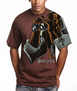 Vintage Black Heroes Men's T-Shirt - BlackJack - 6 - Brown