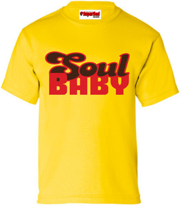 SuperBad Soulware Kids T-Shirt - Soul Baby - Yellow - RBR