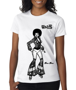 Fast Willie Jackson Women's T-Shirt - Dee Dee - 5B - White