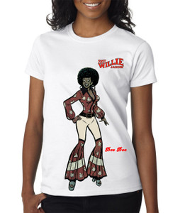 Fast Willie Jackson Women's T-Shirt - Dee Dee - 5C - White