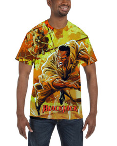 Vintage Black Heroes Men's T-Shirt - BlackJack - 12 - Orange