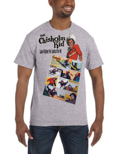 Vintage Black Heroes Men's T-Shirt - The Chisholm Kid - Comic 7 - Sport Grey