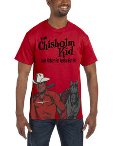 Vintage Black Heroes Men's T-Shirt - The Chisholm Kid - Color 2 - Red