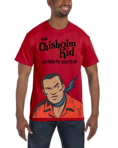 Vintage Black Heroes Men's T-Shirt - The Chisholm Kid - Color 3 - Red