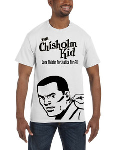 Vintage Black Heroes Men's T-Shirt - The Chisholm Kid - Black Cut Out 4 - White