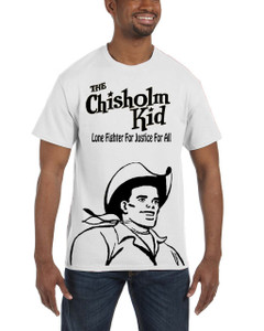 Vintage Black Heroes Men's T-Shirt - The Chisholm Kid - Black Cut Out 1 - White