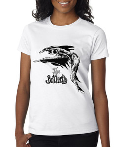Vintage Black Heroines Women's T-Shirt - The Butterfly - 8 - White