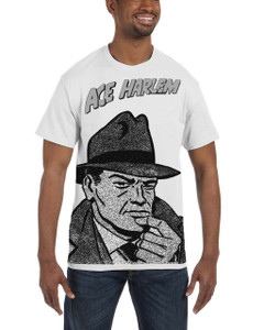 Vintage Black Heroes Men's T-Shirt - Ace Harlem - BW1 - White