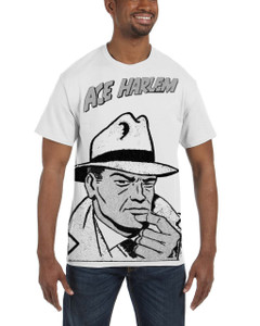 Vintage Black Heroes Men's T-Shirt - Ace Harlem - HCO1 - White