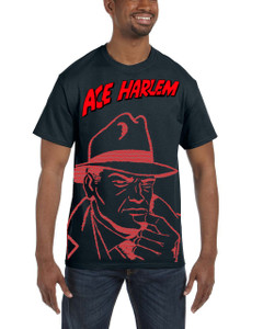 Vintage Black Heroes Men's T-Shirt - Ace Harlem - RCO1 - White