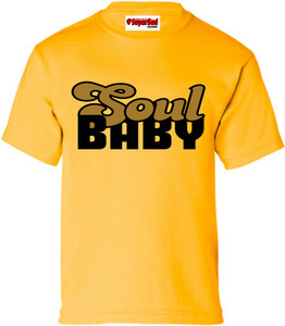 SuperBad Soulware Boys T-Shirt - Soul Baby - Gold - BGD