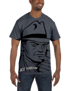 Vintage Black Heroes Men's T-Shirt - Ace Harlem - H2S1 - Dark Grey
