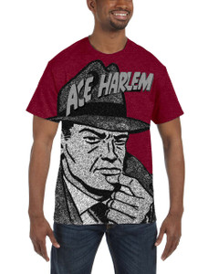 Vintage Black Heroes Men's T-Shirt - Ace Harlem - Hat1 - Red