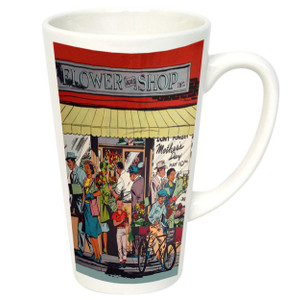 Afrotopia 17 oz. Latte Mug - Vintage Flower Shop