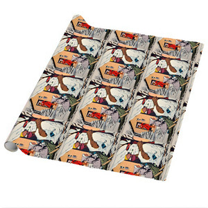 Afrotopia Wrapping Paper Sheets - Vintage Snow Man - Package Of 5