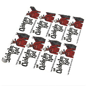 Vintage Black Heroes Wrapping Paper Sheets - The Chisholm Kid - 2 - Package Of 5
