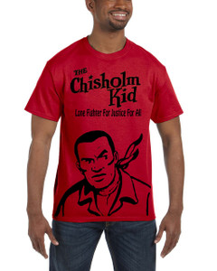 Vintage Black Heroes Men's T-Shirt - The Chisholm Kid - Black Cut Out 3 - Red