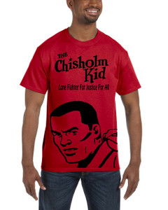 Vintage Black Heroes Men's T-Shirt - The Chisholm Kid - Black Cut Out 4 - Red