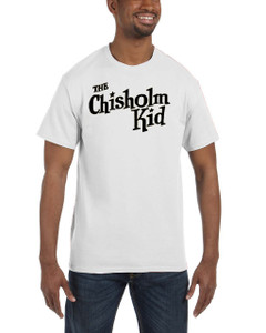 Vintage Black Heroes Men's T-Shirt - The Chisholm Kid - Logo - White