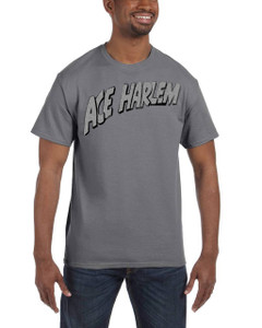Vintage Black Heroes Men's T-Shirt - Ace Harlem - Logo - Dark Grey