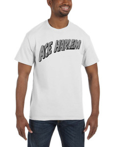 Vintage Black Heroes Men's T-Shirt - Ace Harlem - Logo - White
