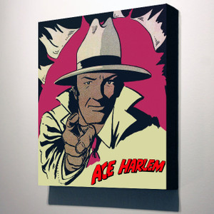 Vintage Black Heroes 14x12 Canvas - Ace Harlem - 2