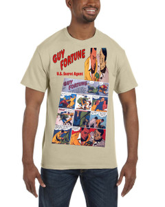 Vintage Black Heroes Men's T-Shirt - Guy Fortune - Comic 2 - Sand