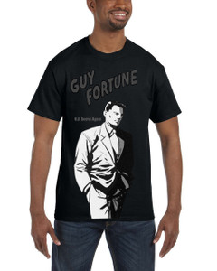 Vintage Black Heroes Men's T-Shirt - Guy Fortune - Black And White 6A - Black