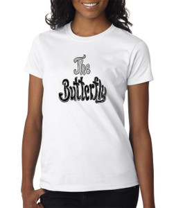 Vintage Black Heroines Women's T-Shirt - The Butterfly - Logo 1 - White