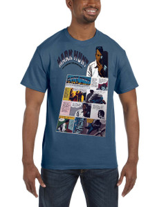Vintage Black Heroes Men's T-Shirt - Mark Hunt - Comic 5 - Indigo
