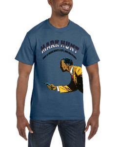 Vintage Black Heroes Men's T-Shirt - Mark Hunt - Color 1 - Indigo