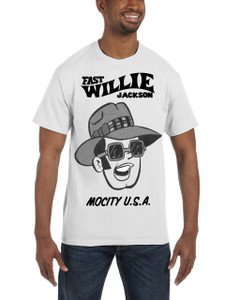 Fast Willie Jackson Men's T-Shirt - Frankie - 4A - White