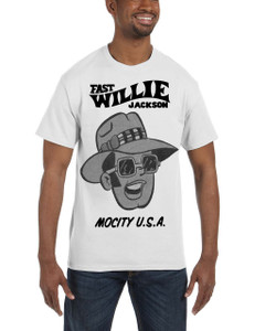 Fast Willie Jackson Men's T-Shirt - Frankie - 4C - White