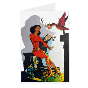 Afrotopia Greeting Cards - Vintage Lodge