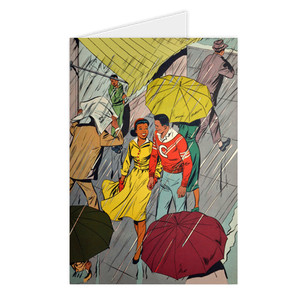Afrotopia Greeting Cards - Vintage Rain
