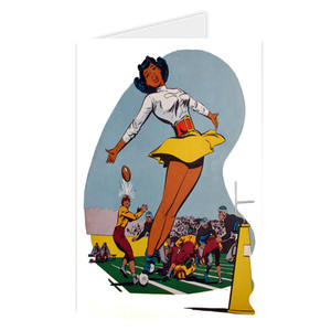 Afrotopia Greeting Cards - Vintage Cheerleader