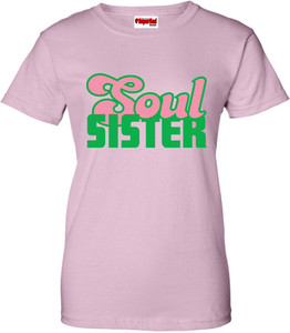 SuperBad Soulware Women's T-Shirt - Soul Sister - Light Pink - GP