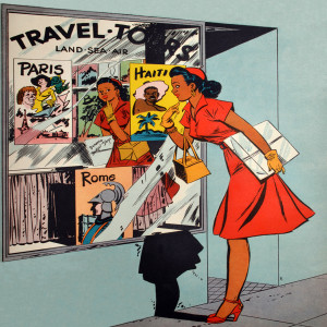 Afrotopia Magnet - Vintage Travel Agency
