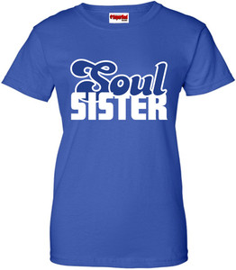 SuperBad Soulware Women's T-Shirt - Soul Sister - Royal Blue - WBL