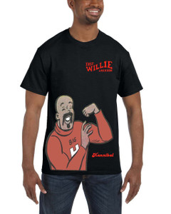 Fast Willie Jackson Men's T-Shirt - Hannibal - 6A - Black