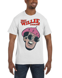 Fast Willie Jackson Men's T-Shirt - Jabar - 1A - White