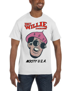 Fast Willie Jackson Men's T-Shirt - Jabar - 3A - White