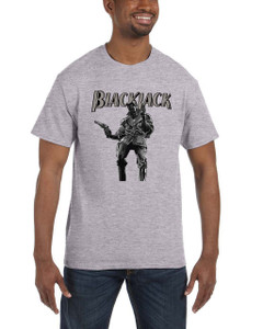 Vintage Black Heroes Men's T-Shirt - BlackJack - 14 - Grey
