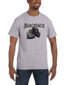 Vintage Black Heroes Men's T-Shirt - BlackJack - 16 - Grey