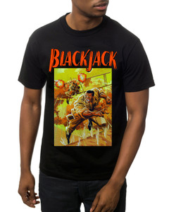 Vintage Black Heroes Men's T-Shirt - BlackJack - Cover 3 - Black