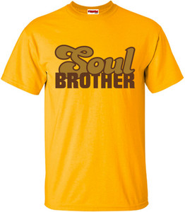 SuperBad Soulware Men's T-Shirt - Soul Brother - Gold - BRGD