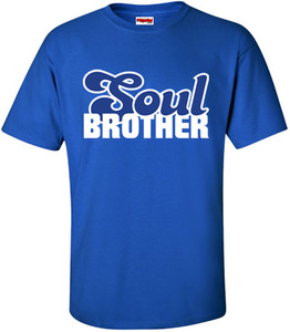 SuperBad Soulware Men's T-Shirt - Soul Brother - Royal Blue - WBL